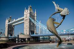 Girl With A Dolphin (JJ Willow) Tags: bridge england london thames river unitedkingdom 1973 toweroflondon davidwynne