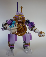 Princess exo suit front (Brick Blue Wren) Tags: gold lego princess lavender disney suit mech exo eurobricks