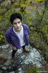 Marcos (Felipe Trein) Tags: from above autumn boy mountain nature up climb stand spring woods rocks alternative