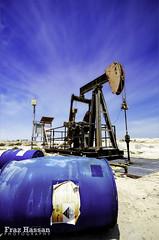 Oil Rig in Bahrain (frazha55an) Tags: camera blue summer sky beautiful metal fun bahrain nikon day view shot angle superb wideangle super gas