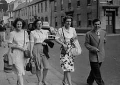 STREET PHOTOGRAPHER . JERSEY . (JOHN MORGAN .) Tags: ladies bw white 1948 photo seaside photographer photos album jersey and british bathing