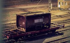 (HolmisticWalker) Tags: film night ct railway slide container 100 railyard precisa ef100mmf28macrousm agfaphoto epsonv550 fujihunt6xe6