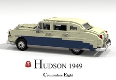 Hudson Commodore Eight - 1949 (lego911) Tags: auto usa classic car america sedan model lego render 8 1940s only commodore hudson saloon 83 eight challenge 1949 cad lugnuts povray moc ldd miniland onlyinamerica lego911