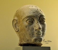 Head of a Statue, Gudea? (Sumer and Akkad!) Tags: statue iraq limestone pergamonmuseum mesopotamia lagash gudea girsu