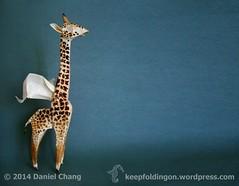 Winged Coffee Giraffe (mitanei) Tags: animals origami giraffe coffeeart wingedcreatures kaffeekunst mitanei origamigiraffe keepfoldingon wingedcoffeegiraffe wingedorigamicoffeegiraffe kaffeegiraffe geflügelteorigamigiraffe geflügeltekaffeegiraffe