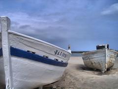 05210045_Localtone (davebristolanok) Tags: sea beach boats seaside fishing spain maritime sitges