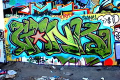 GANK (SPEAR1X) Tags: ca street wall graffiti graf socal spraypaint oc gank