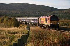 HML14064 Moy 67021 1S25 2116 Euston-Inverness 300914 (retbsignalman) Tags: scotrail moy ews caledoniansleeper class67 67021 dbschenker