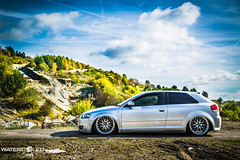 Gabby's Audi A3 (WatercooledSociety) Tags: abandoned girl car graffiti lift air sheffield low a3 adidas audi derelict owner vag stance quattro camber grimy airride shefgraf