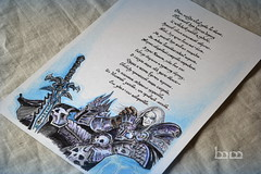 / White-haired King (Iceman_ic400) Tags: world wow frozen king poem warcraft calligraphy blizzard throne invincible lich menethil arthas frostmourne lichking