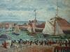 PISSARRO Camille,1903 - L'Anse des Pilotes et le Brise-lames Est, Le Havre, Après-Midi, Temps ensoleillé (Le Havre) - Détail 14