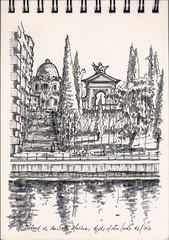 Talud de Aniceto Marinas (f.gómezcorisco) Tags: rotulador madrid airelibre castejao esbozo urbansketchers dibujo cuaderno boceto
