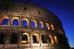 All lit up ! (CJS*64) Tags: rome italy vacation cjs64 craigsunter cjs nikon nikkorlens nikkor colosseum night lights litup arches blue