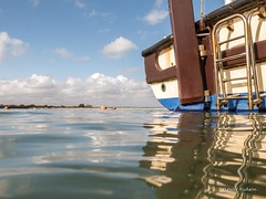 A view from the pontoon (Peter H 01) Tags: water sea reflections mengham moorings spring clouds