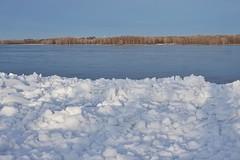 Ice floats on Ottawa River (beyondhue) Tags: ice snow melt water ottawa river ontario spring beyondhue canada cold sun horizon woods