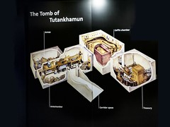 Diagram of King Tutankhamun's tomb with artifact placement New Kingdom 18th Dynasty Egypt 1332-1323 BCE (mharrsch) Tags: king pharaoh tutankhamun newkingdom 18thdynasty egypt 14thcenturybce ancient gravegoods tomb diagram
