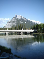 Banff, Bow River bridge with Mount Rundle in the background (Danidee01) Tags: mountrundle rockymountains alberta banff bowriver