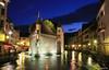 Annecy, le Palais de l'Isle (HimalAnda) Tags: annecy france hautesavoie 74 palais thiou rivière river nuit nocturne heurebleue architecture canoneos400d stéphanebon eos400d