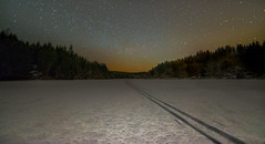 Winter Night (Tore Thiis Fjeld) Tags: norway nordmarka øvremovann night le longexposure stars starry forest outdoors wilderness winter snow frozemn crosscountry skiing nature sky nikon d800 samyang 14mm