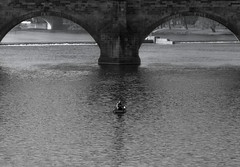Is he real or not? (EmpIoia) Tags: is he real or question made by me am just curious if anybody looks tags that was all wanted say olympus ep3 pen oly vivitar lens manual focus vintage canon fd 2890mm f2835 river prague praga praha czech ceska republica republic czechy bridge black white bw blackandwhite blackorwhite fish emploia