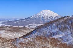 Yotei (robertdownie) Tags: trees sky mountains winter travel volcano blue japan snow mountain hokkaido powder niseko yotei first tracks
