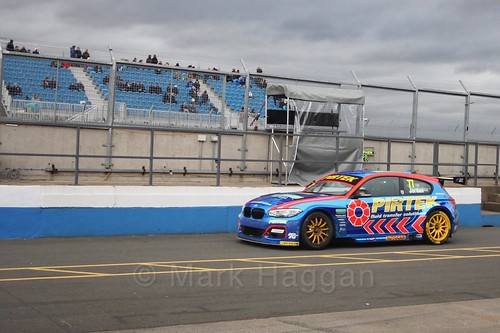 Andrew Jordan heads to the pits after race two at the British Touring Car Championship 2017 at Donington Park