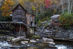 Glade Creek - Full frontal (Notkalvin) Tags: gladecreek creek mill gristmill babcockstatepark westvirginia outdoor fall autumn rocks river notkalvin mikekline notkalvinphotography roadtrip