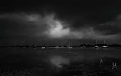 Bosham Boats 1 (hall1705) Tags: boshamboatsir blackwhite bosham boats westsussex water infrared 720nm d3200 sea dramatic clouds mood moody reflections lowtide
