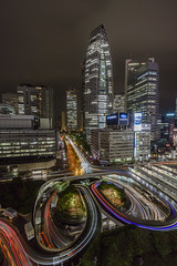 SHINJUKU (B Lucava) Tags: tokyo shinjuku cocoontower buildings wideangle night city cityscape urban lighttrail tower cloudy rain longexposure loop tricolore