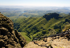 Drakensberg Mountains - View from top of the Chain Ladder (Julia Kostecka) Tags: drakensbergmountains drakensbergescarpment geology rockformations sentinelpeaktrail tugelafalls chainladdertrail hiking amphitheater waterfall southafrica royalnatalnationalpark