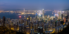 Hong Kong, night (modesrodriguez) Tags: asia china city ciudad hk hongkong street travel viaje skyline buildings architecture night nightime lights skyscraper sky bluehour