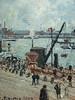 PISSARRO Camille,1903 - L'Anse des Pilotes, Le Havre, Matin, Soleil, Marée montante (Le Havre) - Détail 13