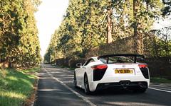 Imminent noise. (Alex Penfold) Tags: white lexus lfa nurburging supercars supercar super car cars autos alex penfold 2017 berkshire crowthorne wellingtonia avenue