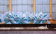 (Chicago City Limits) Tags: freight train graffiti graff art trains artwork spray paint tag tagger tagging tagggers freights rail railroads rails railroad burner burners piece wildstyle wild style auto rack autorack autoracks racks holyroller holy roller rollers tracks locomotives locomotive norfolk southern