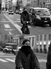 [La Mia Città][Pedala] (Urca) Tags: milano italia 2017 bicicletta pedalare ciclista ritrattostradale portrait dittico bike bicycle biancoenero blackandwhite bn bw 993134 nikondigitale scéta