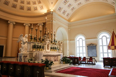 High Altar and Ombrellino (Lawrence OP) Tags: baltimore basilica assumption nationalshrine benjaminhenrylatrobe highaltar ombellino umbrella papal