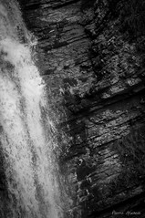 Ordre et chaos / Order and chaos (Pierrotg2g) Tags: eau water cascade fall paysage landscape nature pnr chartreuse alpes alps montagne mountain nikon d90 nb bw