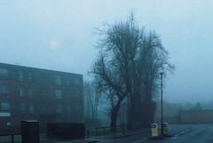 Footscray Road in Fog (Matthew Huntbach) Tags: eltham fog footscrayroad se9 rolleicn200