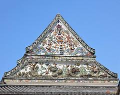 Wat Nangnong Phra Wihan Gable (DTHB0435) วัดนางนอง หน้าจั่ว พระวิหาร