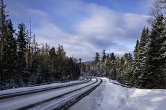 Adirondack Park Winter-0546 (Ron Biedenbach) Tags: winter snow tree trees forest road adirondack newyork clouds