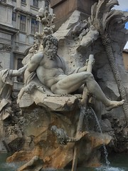 Rome, the Four Rivers Fountain in the Piazza Navona (paulineandjohng2008) Tags: baroque bernini italy rome