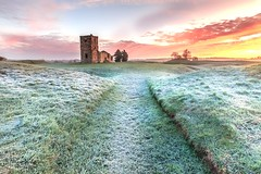 Knolwton Church (Jonny_Royale) Tags: dorset england south west national trust frost sunrise clouds morning landscape leegradfilters neolithic church