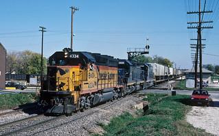 B&O  4344 Westbound SLTT Mitchell, IN 10/27/1983