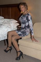 2nd Day At Keystone! (kaceycd) Tags: crossdress tg tgirl lycra spandex minidress pantyhose pumps peeptoepumps opentoepumps anklestrappumps highheels stilettoheels sexypumps stilettos s
