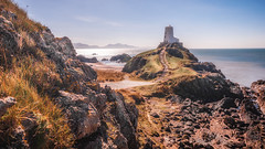 Paradise (Einir Wyn Leigh) Tags: landscape seascape beach water heaven island wales cymru rocks sunlight shimmer colourful sea ocean sand light outdoor nature natural love passion llanddwyn anglesey blue sky sunshine spring march mountains coast