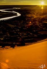 Coucher de soleil sur la dune de Béni-Abbès / Sunset on the dune of Béni-Abbès - Algérie / Algeria (1980) (christian_lemale) Tags: coucher soleil coucherdesoleil sunset désert desert sahara saoura algérie algéria 1980 ساورا الجزائر الصحراء برية غروب الشمس بني عباس