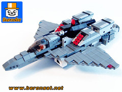 Alpha-Fighter-05 (baronsat) Tags: lego mecha robot model custom moc japan new armored battle mech figure toy scifi military war meka anime japanese exo gun cannon future space armor machine piloted walker vintage tv hobby baronsat gundam macross robotech transformable battroid fighter