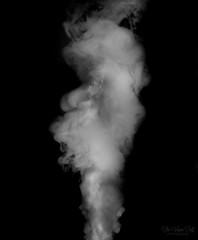 Puff of Smoke (The Vegan Taff Photography) Tags: smoke smokeart smokephotography blackandwhite blackandwhitephotography blackbackground autofocus monochrome monochromatic white black texture inside indoors d3200 nikond3200 nikon closeup