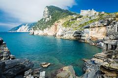 Portovenere (Antonio Casti) Tags: casty liguria spiagge nuvoloso cinqueterre paesaggio portovenere mare italy italia panorama spiaggia castello viaggio
