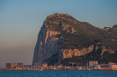 The Rock (Oliver J Davis Photography (ollygringo)) Tags: brexit therock rock rockofgibraltar rockformation cliff limestone british spain uk unitedkingdom europe eu european union marina sea bay lalinea andalusia andalucia cadiz coast landscape sunset warm light clear sky nikon d90 city skyline cityscape today 2017 boats yachts upper galleries siege tunnels military history heritage